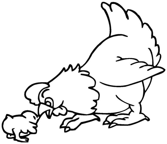 Légend image with chicken template printable