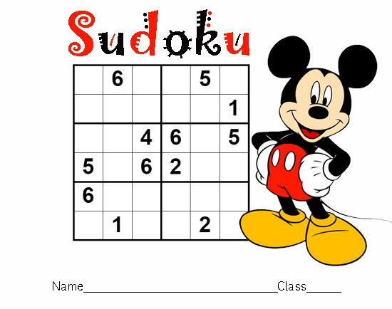 Mickey Mouse Sudoku Printable