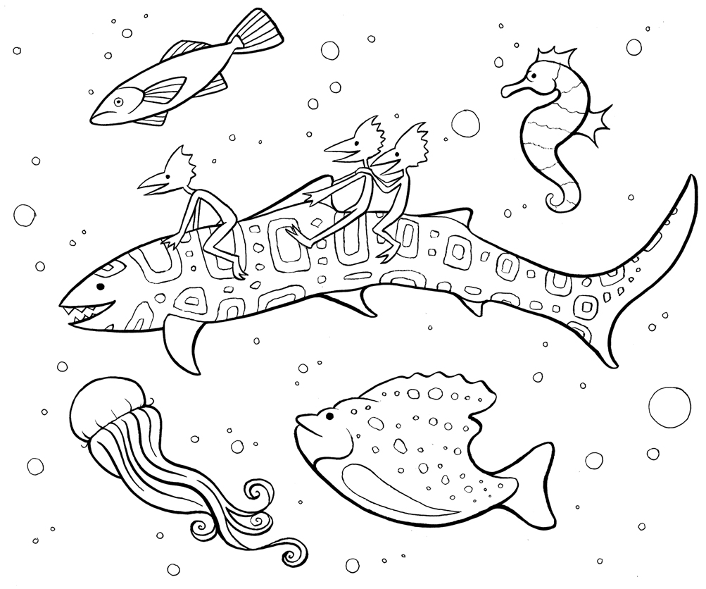 Mindfulness Coloring Page Fish
