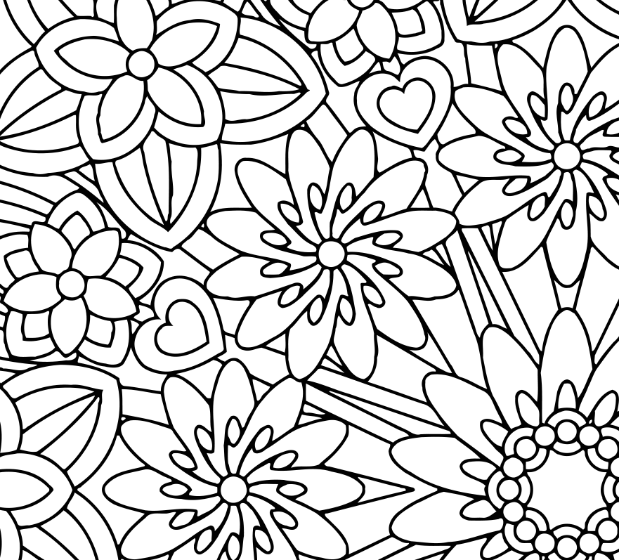 Mindfulness coloring pages best coloring pages for kids for Coloring pages for kids flowers