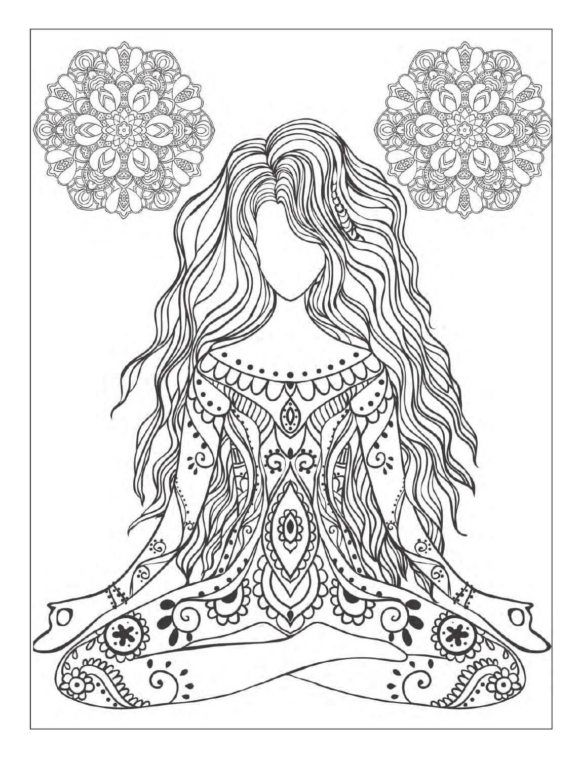 free meditation coloring pages - photo#4