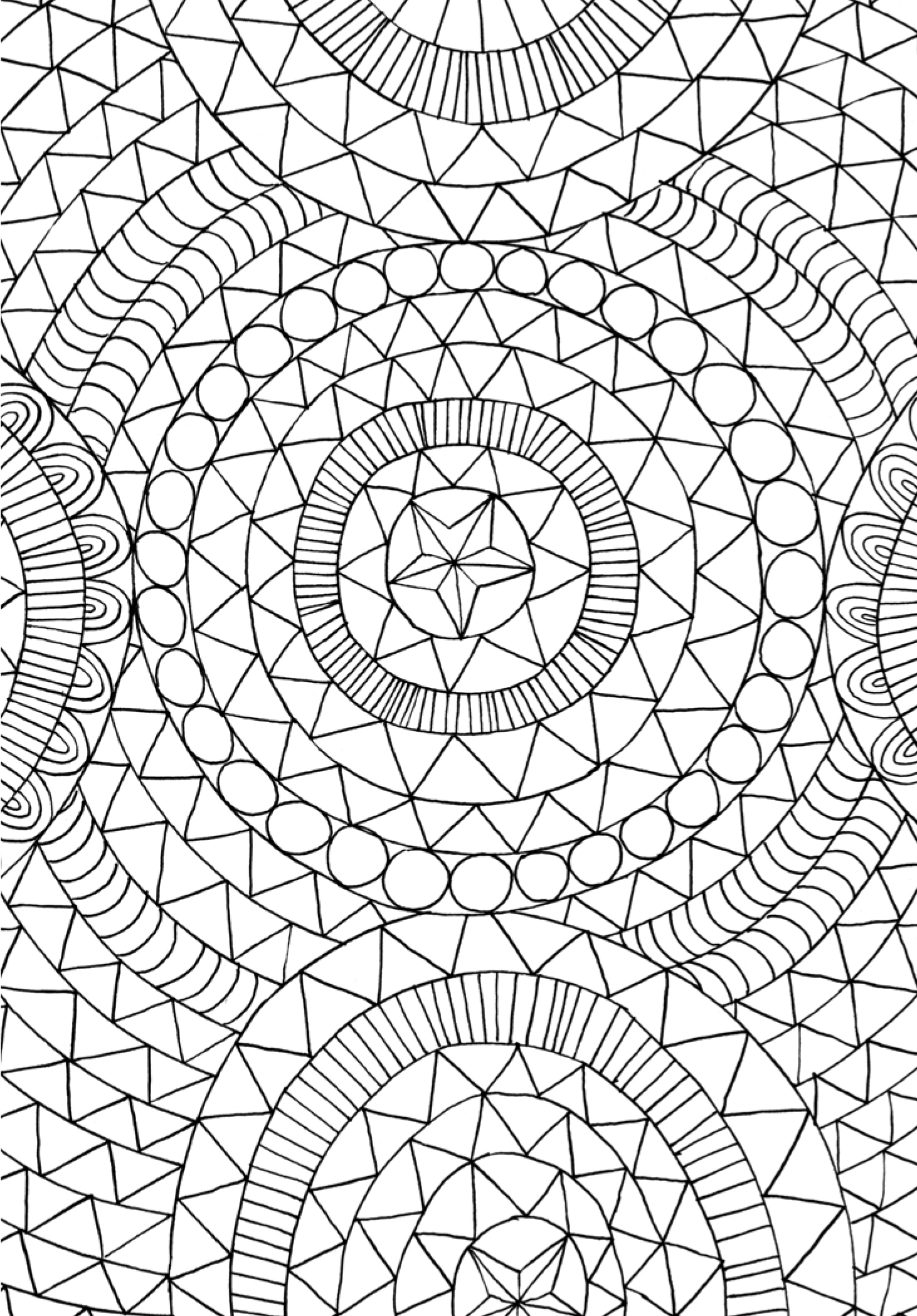 Mindfulness Coloring Pages Pattern