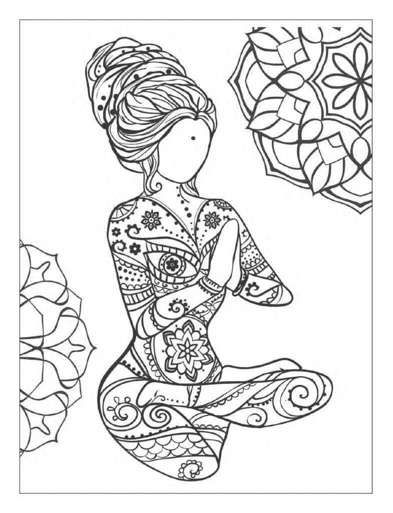 Mindfulness Coloring Pages Yoga Meditation