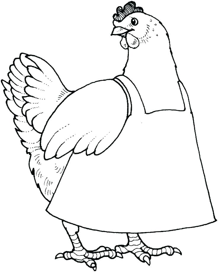 Momma Chicken Coloring Page
