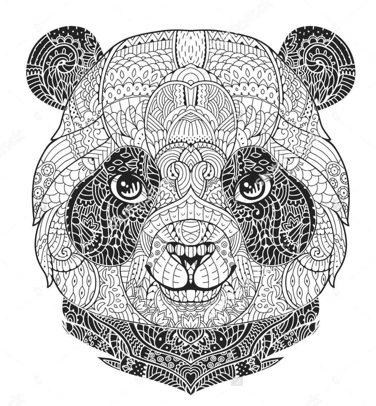 print free panda coloring pages