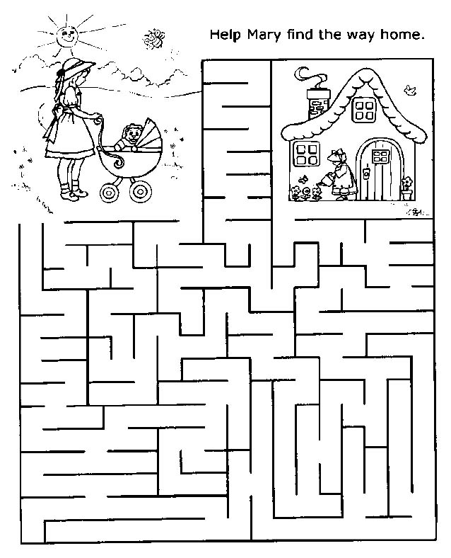 It is a photo of Shocking Printable Maze for Kids