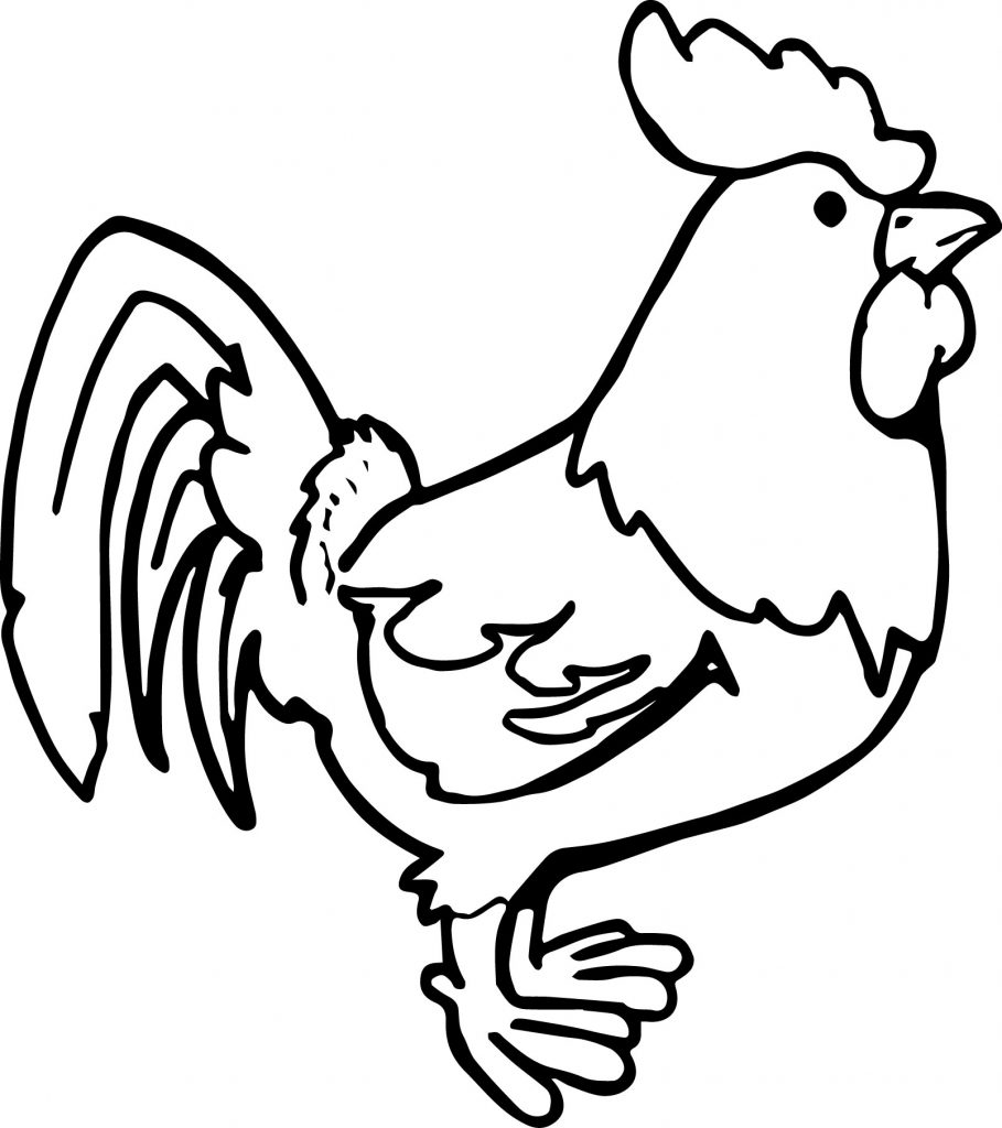 Printable Chicken Coloring Page