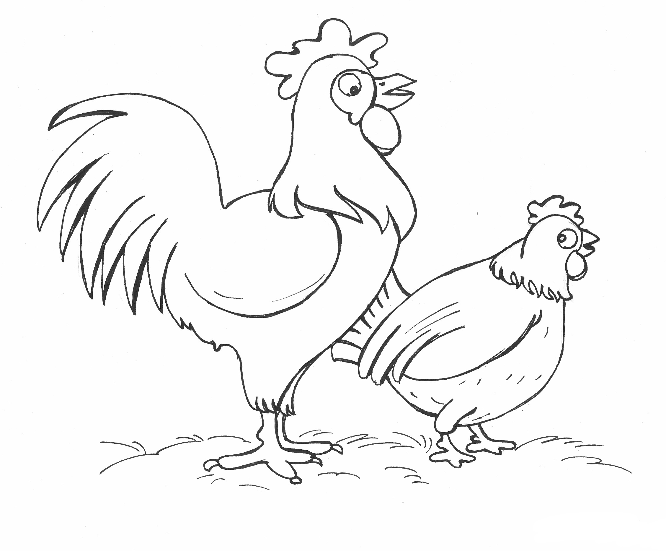 Chicken Coloring Pages Best Coloring