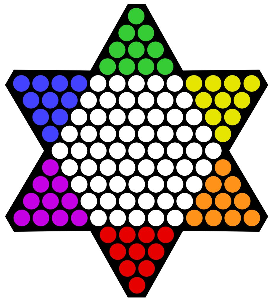 Printable Chinese Checkers Board Game