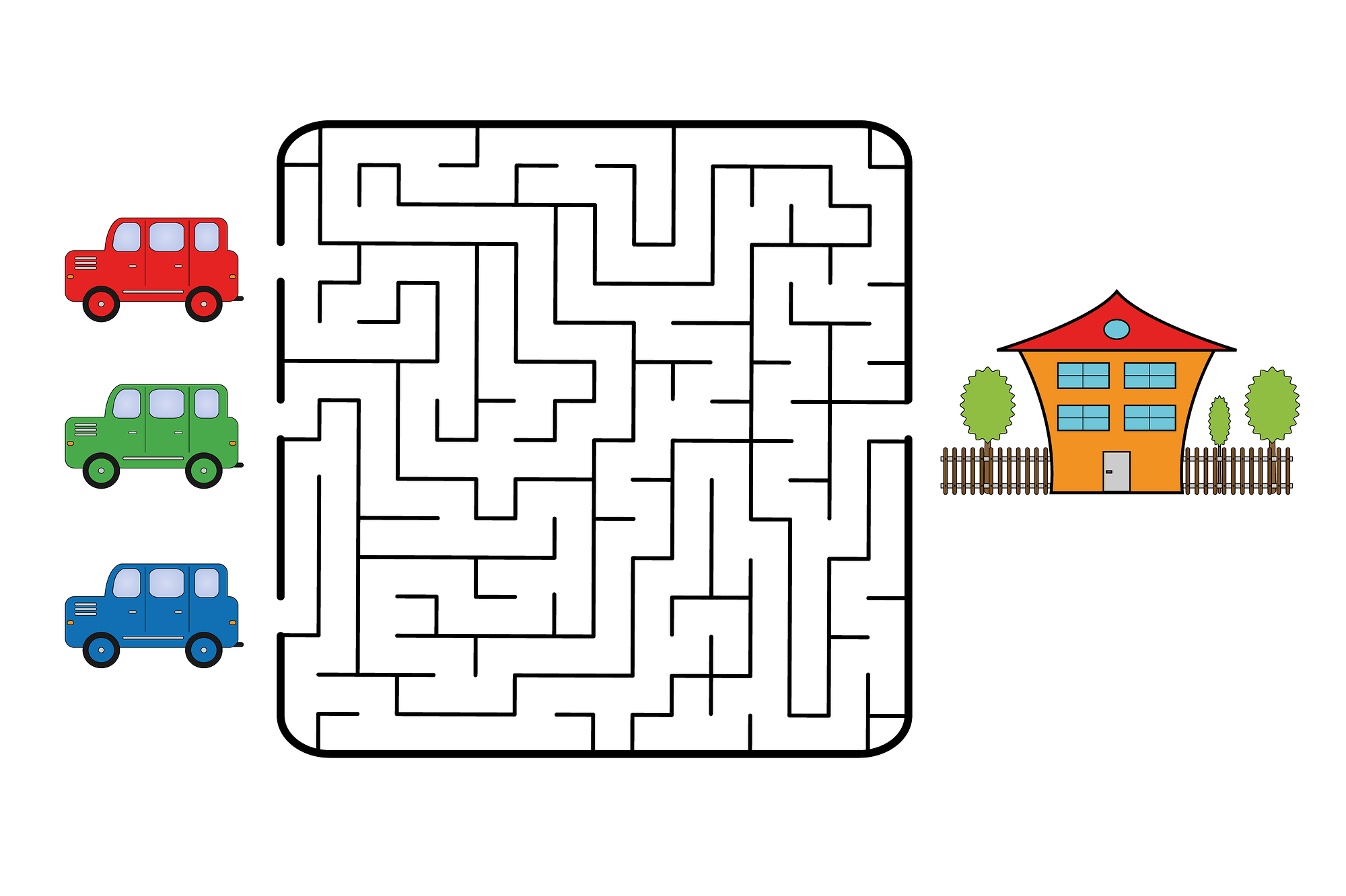 It is a picture of Dramatic Easy Printable Mazes