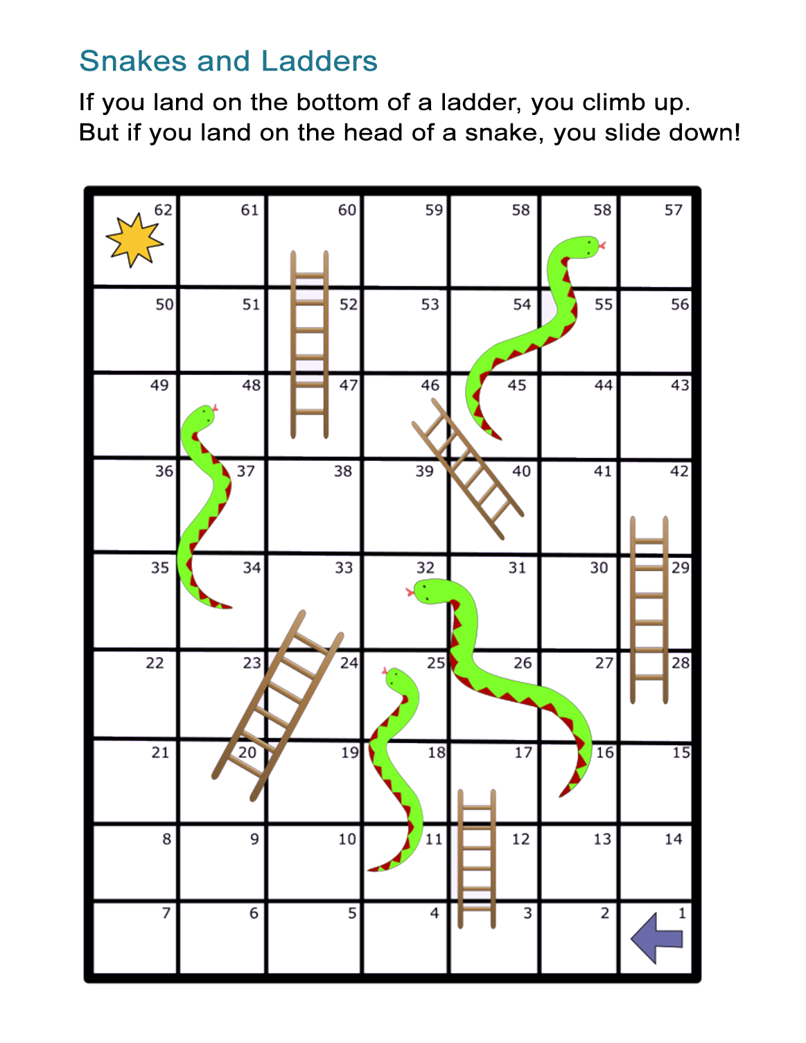 Monster image pertaining to snakes and ladders printable