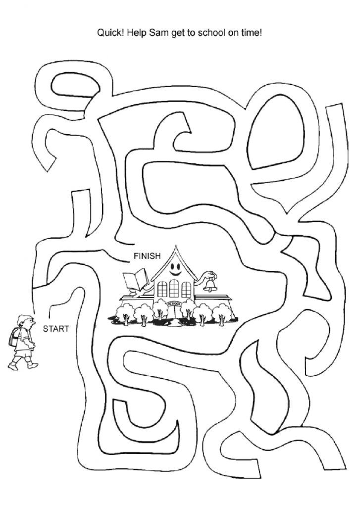 School Mazes to Print