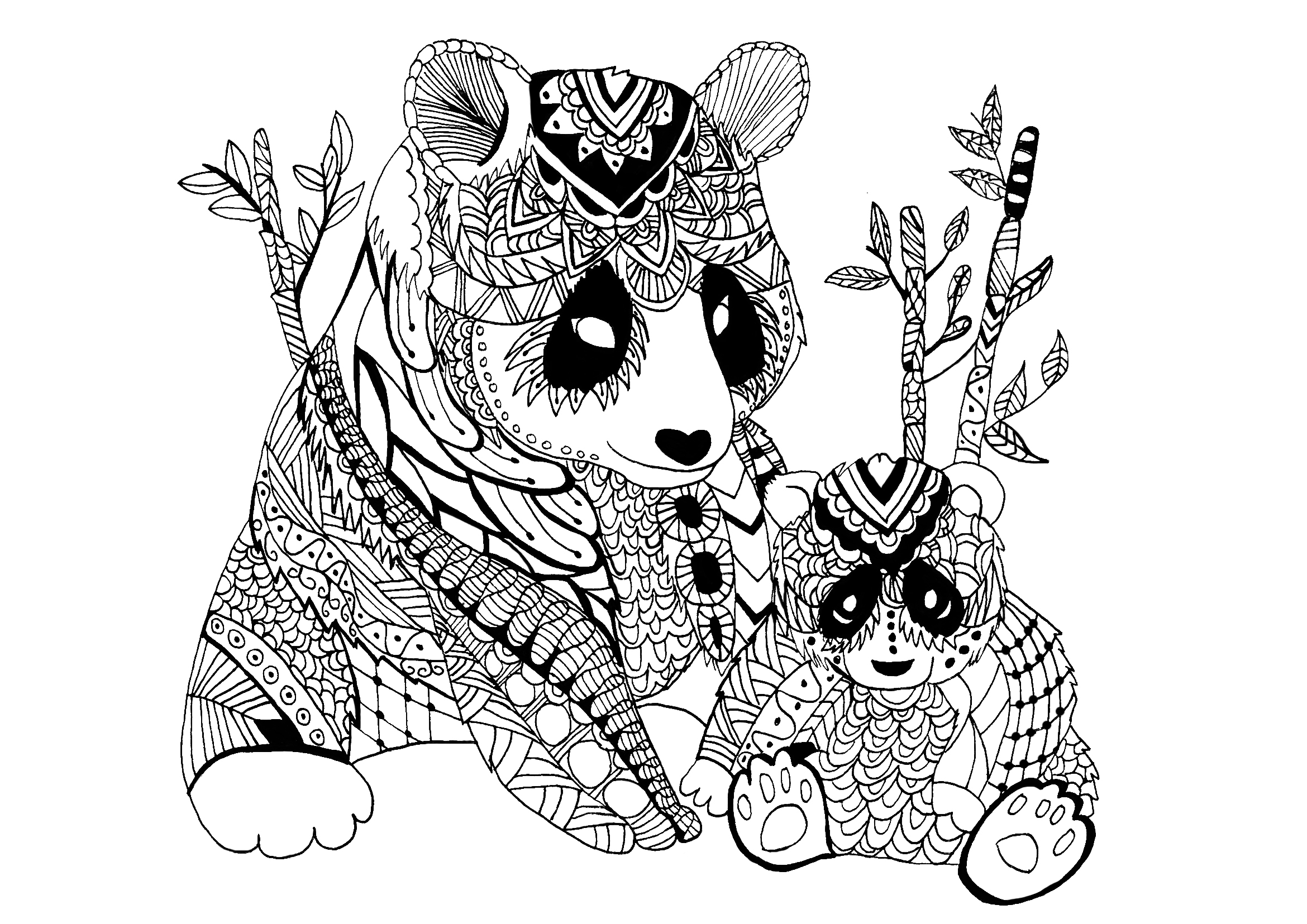 Panda Coloring Pages Best Coloring