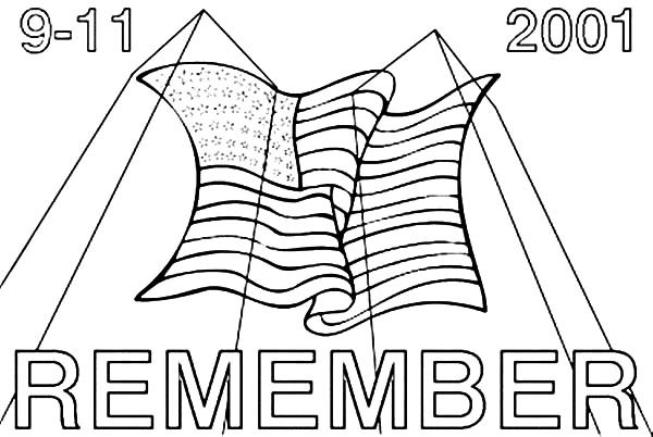 Always Remember 9-11 Coloring