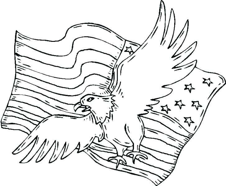 American Eagle Coloring Page for 9-11