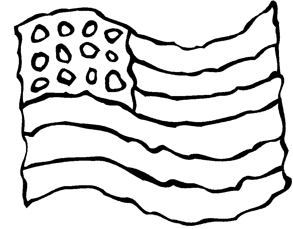 American flag coloring page for 9 11