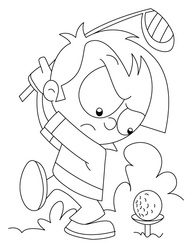 Angry Golfer Coloring Page
