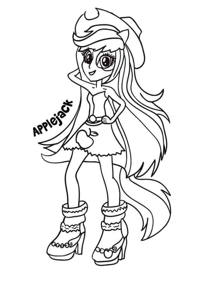 Applejack Equestria Girls Coloring Page
