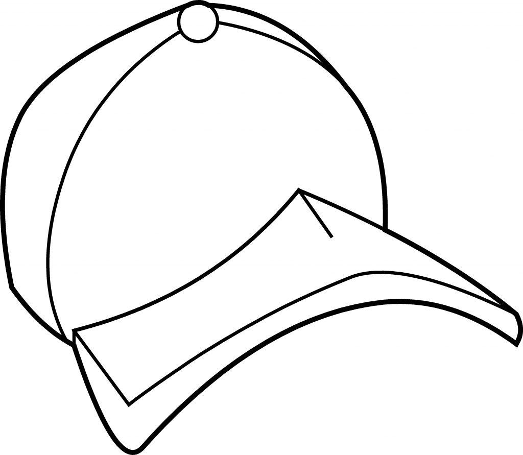 Baseball Hat Coloring Page