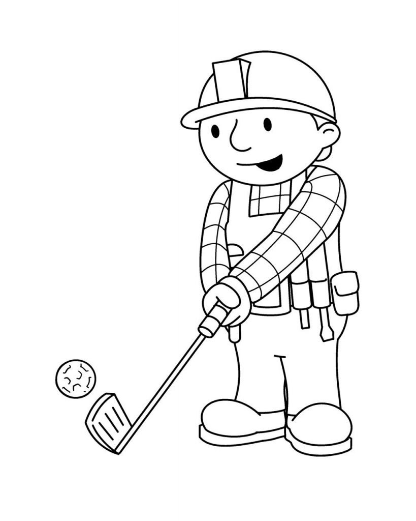 Bob Golf Coloring Pages
