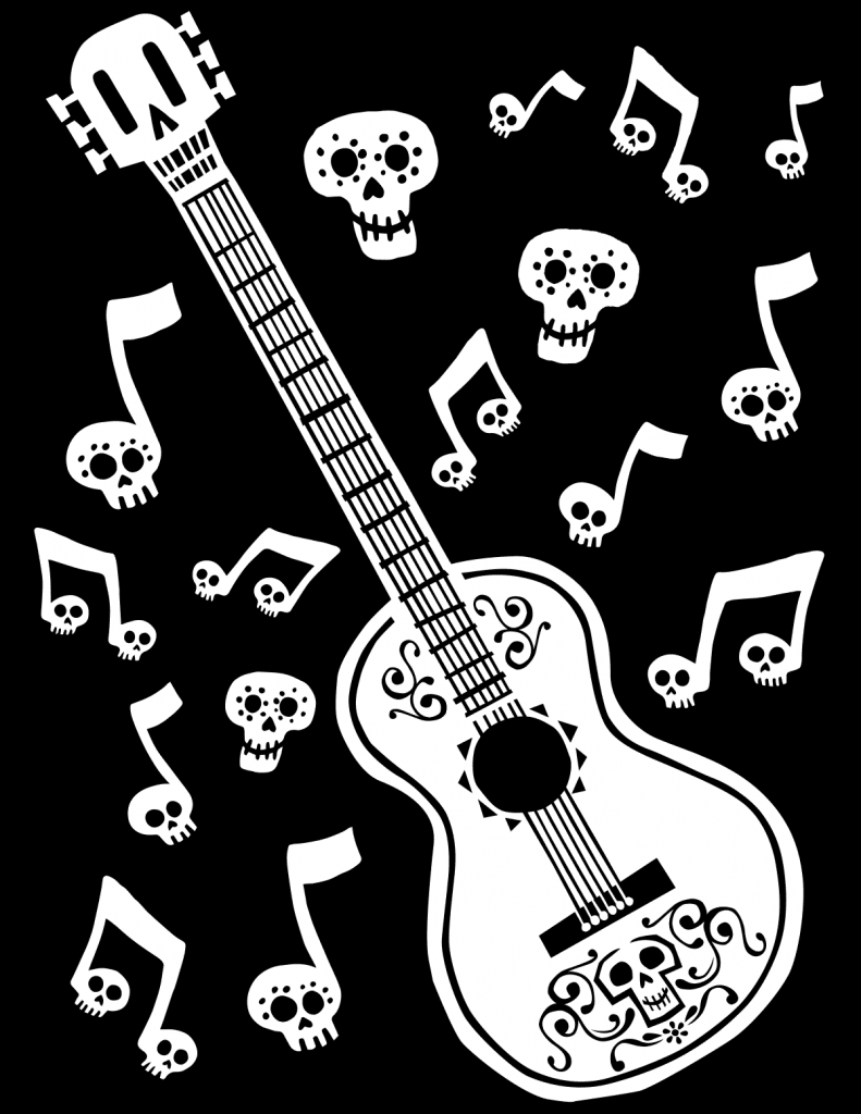 Coco Coloring Pages Guitar