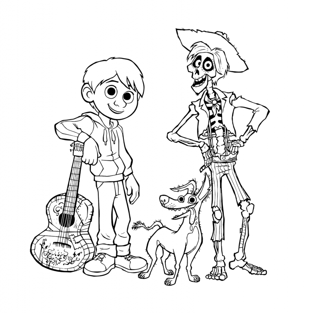 Coco Coloring Pages Printables