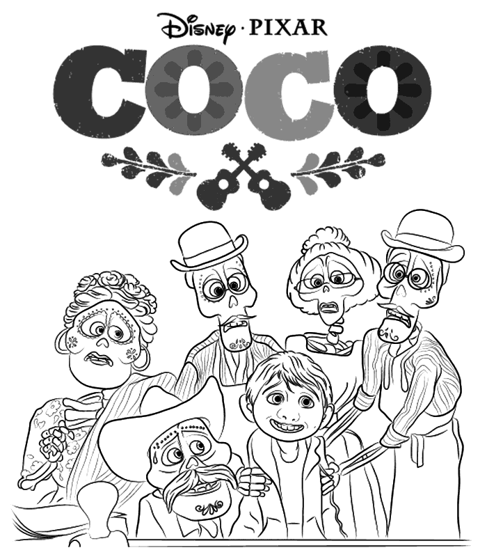 Coco Coloring Pages Best Coloring