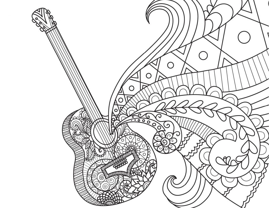 Coco Guitar Coloring Pages