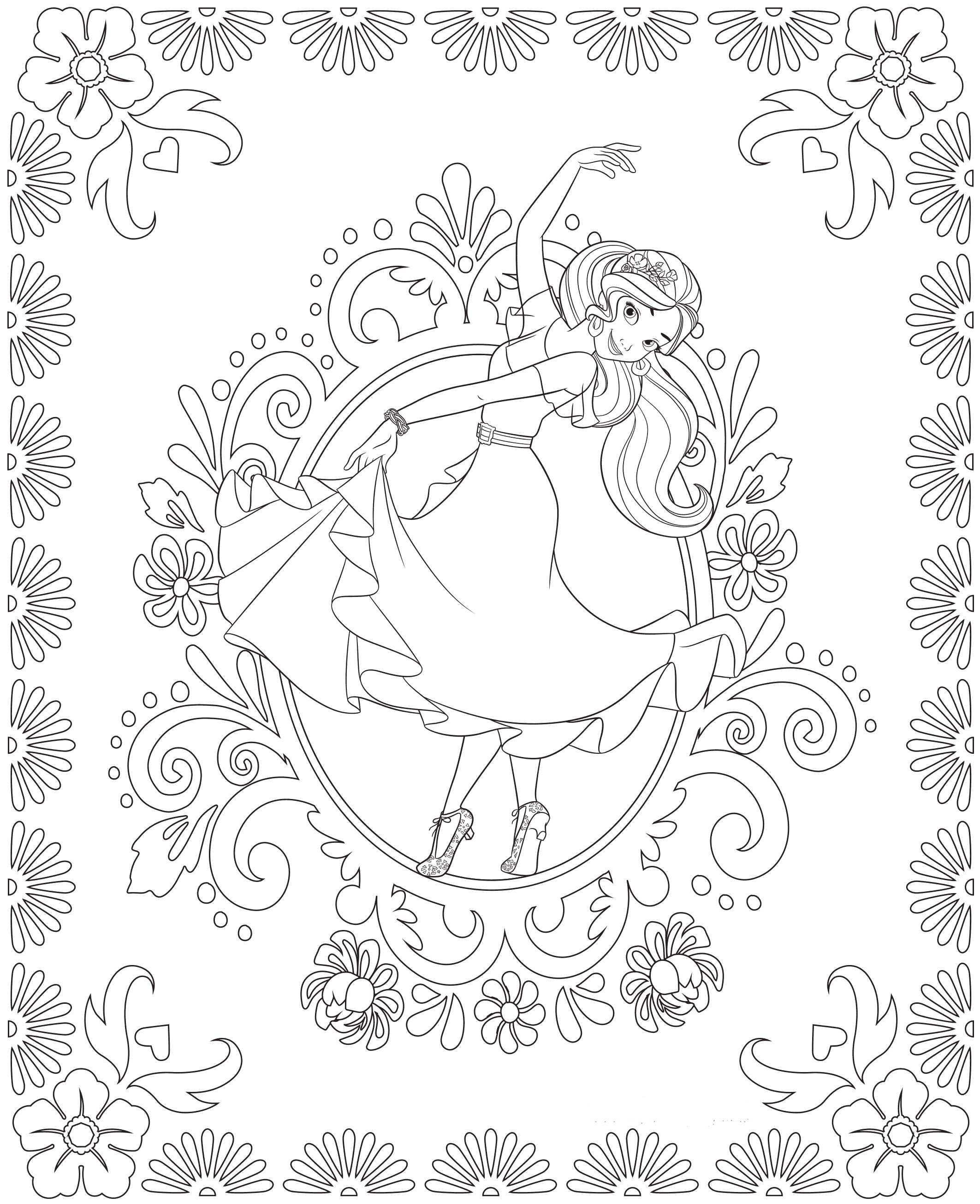 image relating to Elena of Avalor Coloring Pages Printable identified as Elena of Avalor Coloring Internet pages - Perfect Coloring Web pages For Little ones