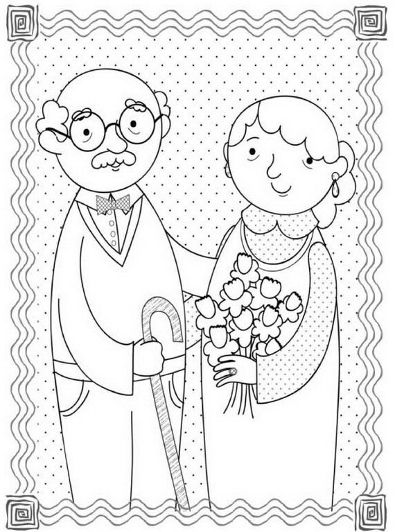 Free coloring pages for grandparents day ~ Grandparents Day Coloring Pages - Best Coloring Pages For Kids