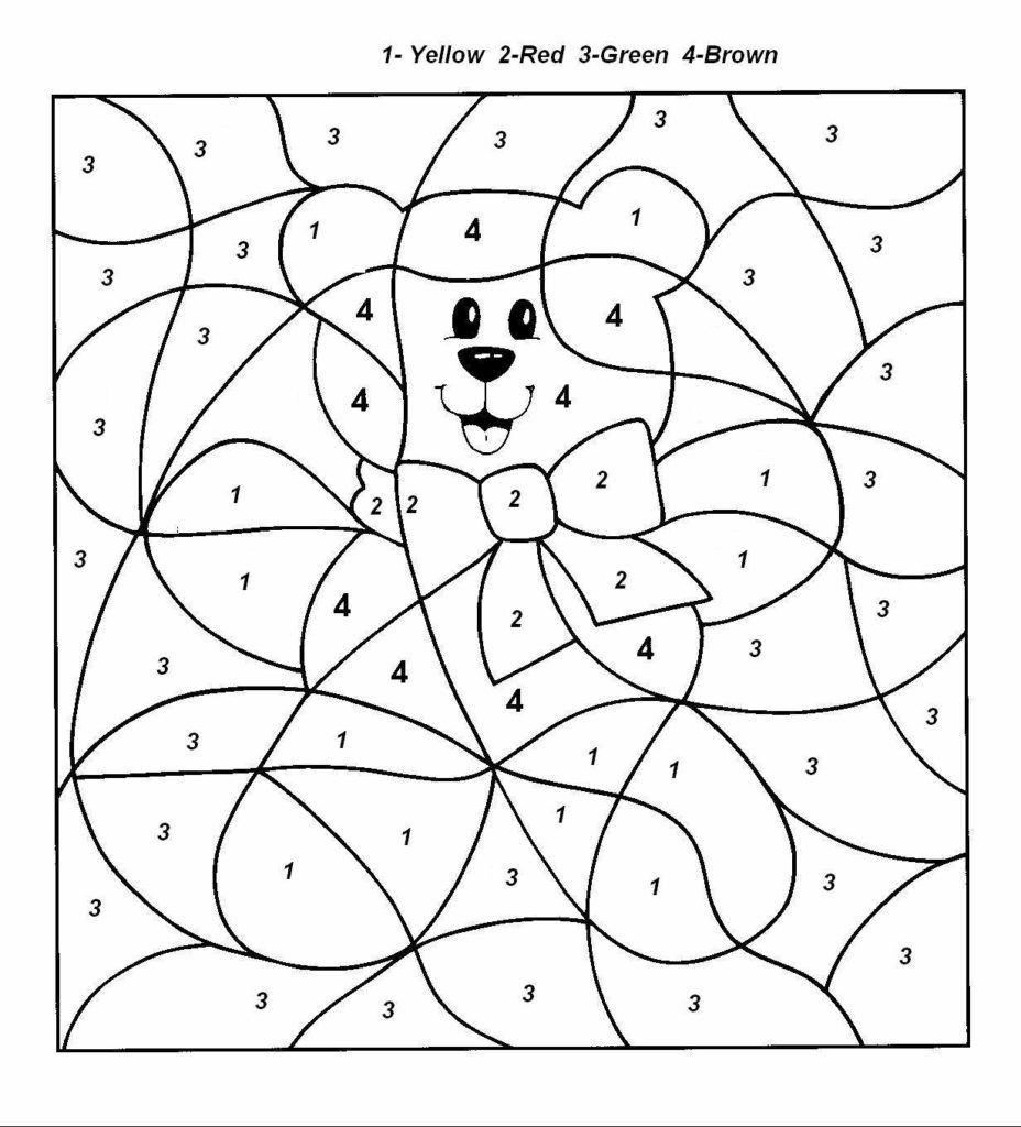 basic color by number kindergarten worksheet