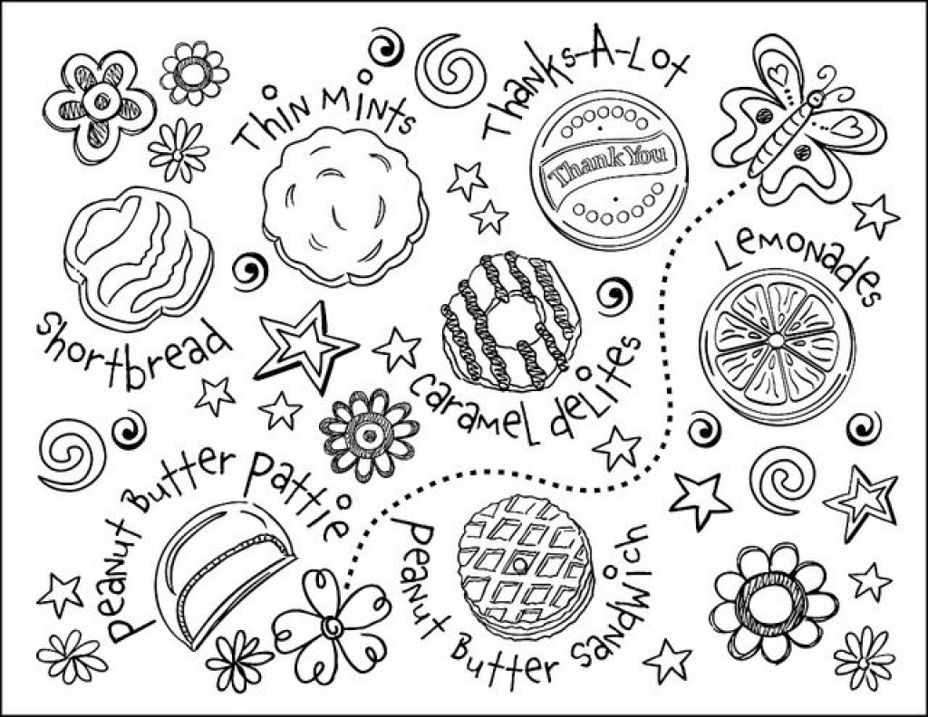 Cookie coloring page design