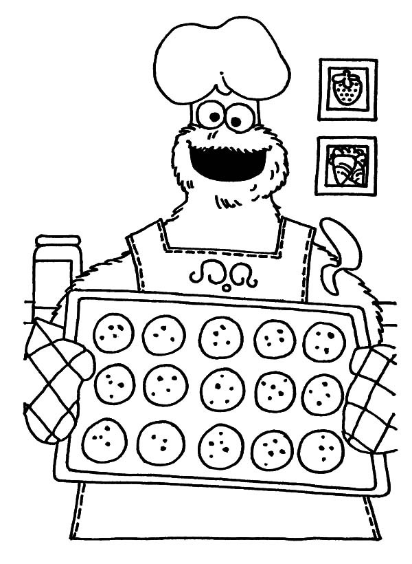 cookie monster coloring page - cookie coloring pages best coloring pages for kids