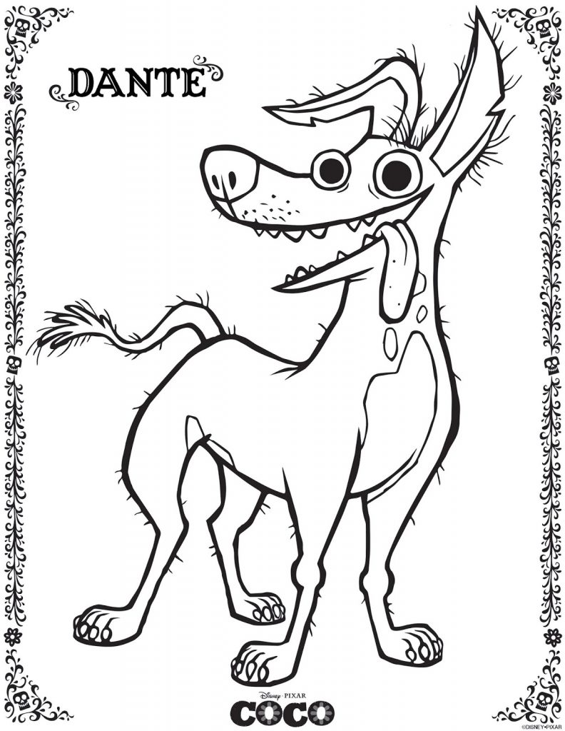 Dante - Coco Coloring Pages