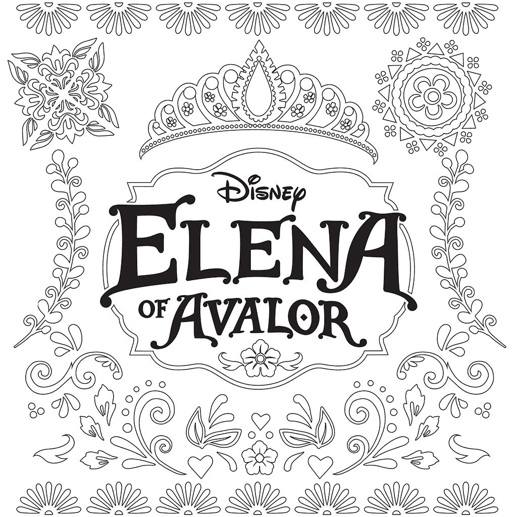 This is an image of Crazy princess elena coloring page