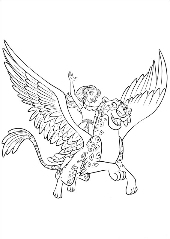 Elena and Migs - Elena of Avalor Coloring Pages