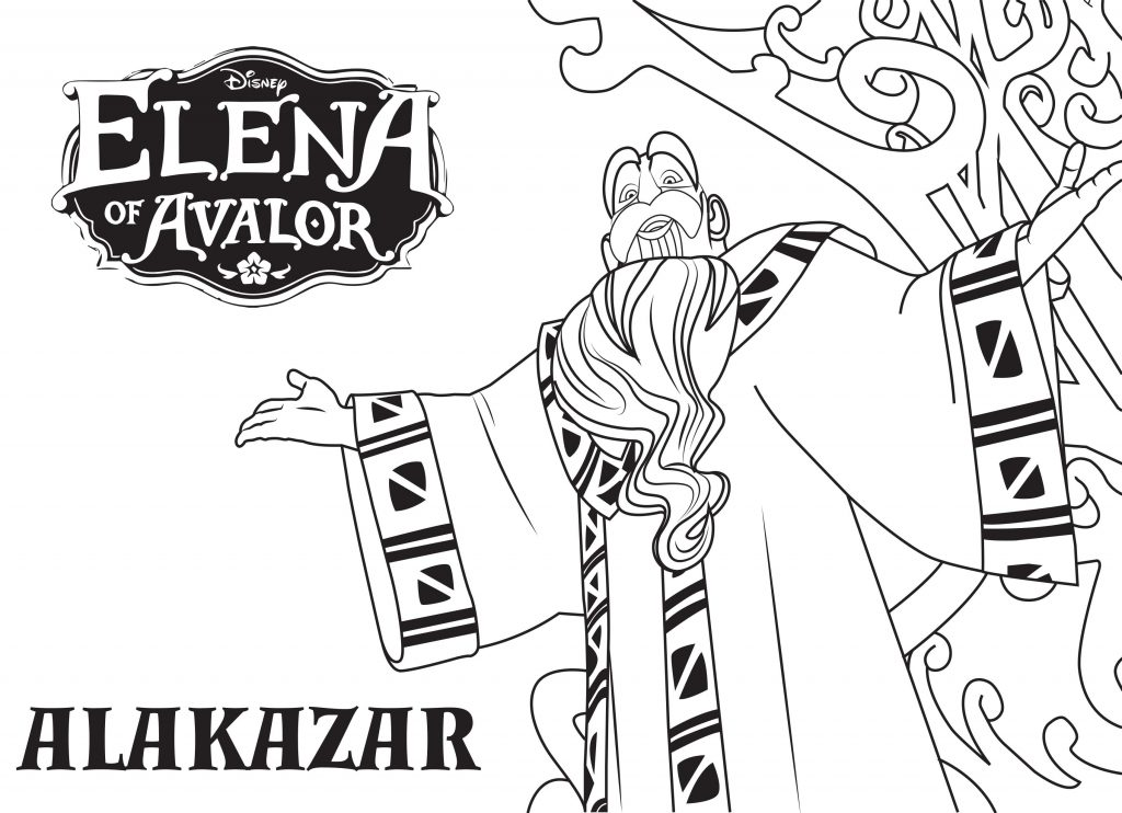 Elena of Avalor Coloring Pages - Alakazar