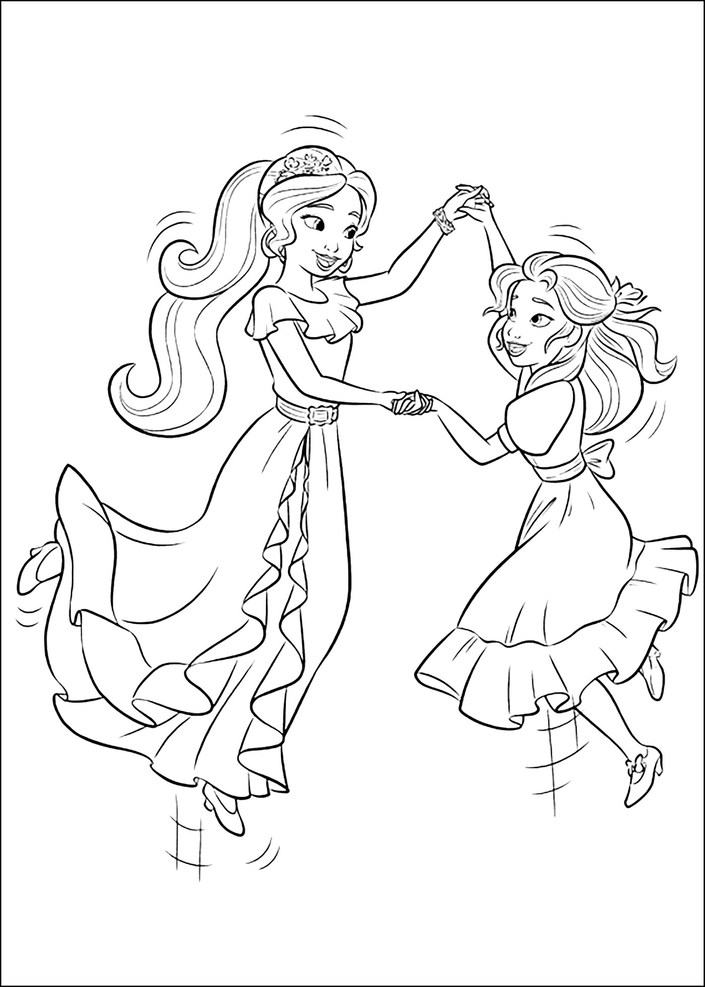 It's just an image of Gratifying princess elena coloring page