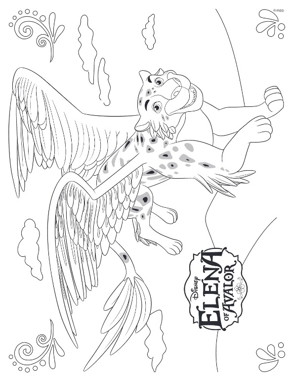 Elena of Avalor Coloring Pages - Migs