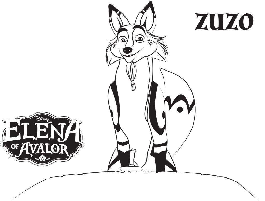 Elena of Avalor Coloring Pages - Zuzo