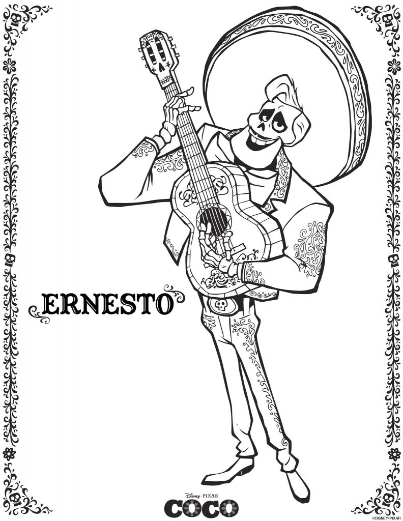 Ernesto - Coco Coloring Pages