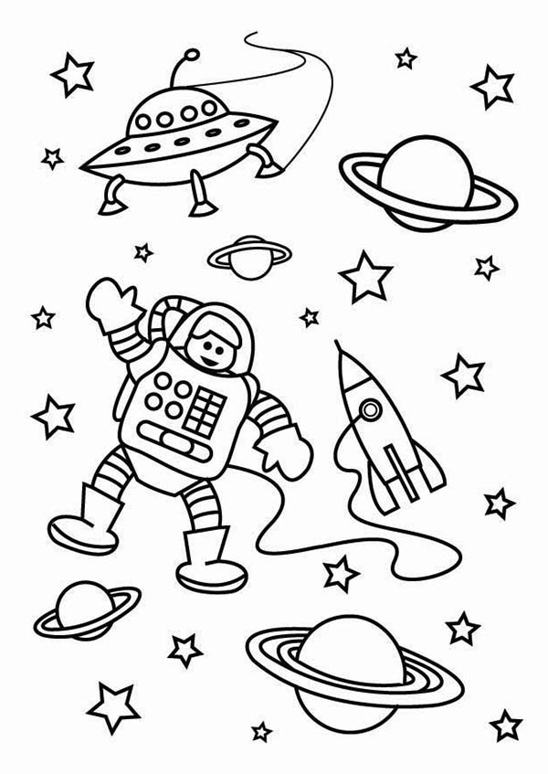Free Astronaut Coloring Page