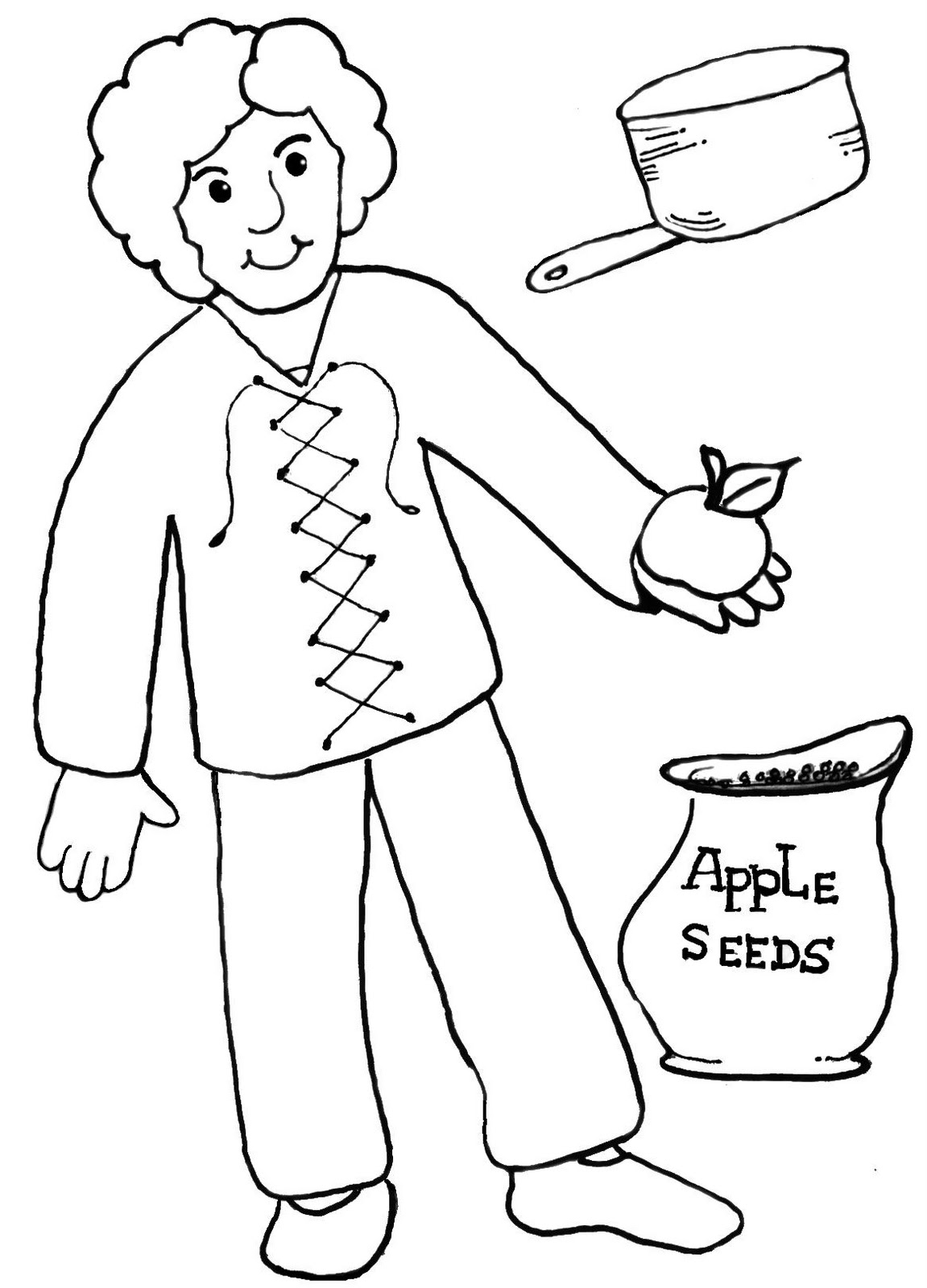 photo about Johnny Appleseed Printable Story identify Johnny Appleseed Coloring Webpages - Most straightforward Coloring Webpages For Children