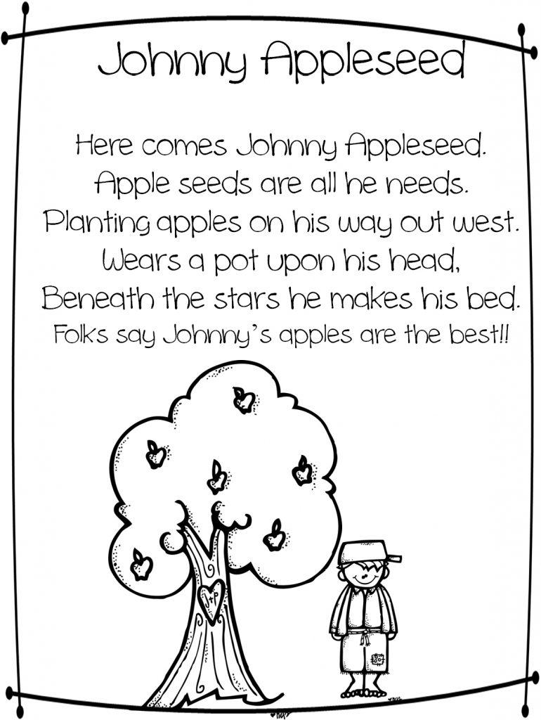 Free Johnny Appleseed Printable