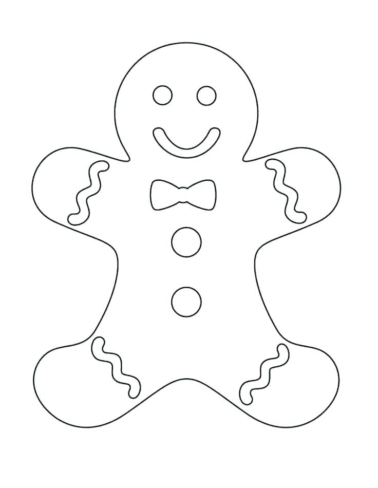 Gingerbread Man Cookie Coloring Page