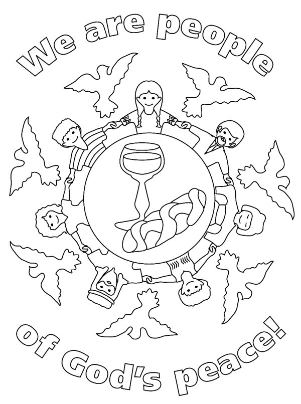 coloring pages peace love - photo#37