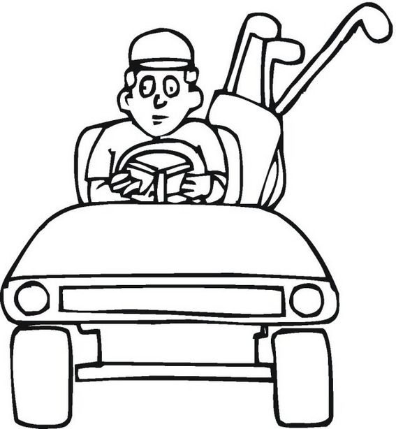 Golf Cart Coloring Pages