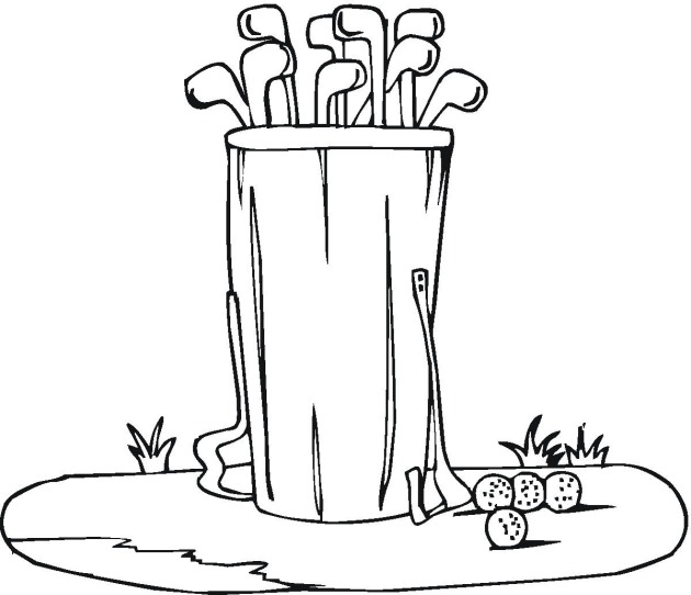 coloring book pages golf clubs - photo#8