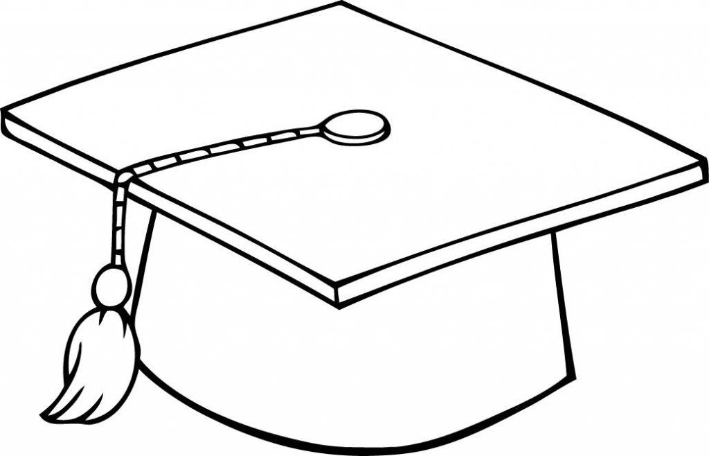 Graduation Hat Coloring Page