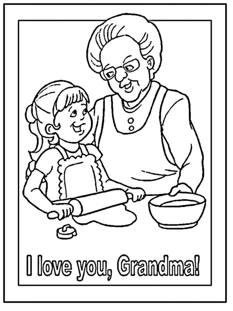 Grandma Coloring Page